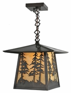 Meyda Tiffany 99530 Stillwater Tall Pines 12  Wide Foyer Hanging Outdoor Light Fixture