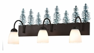 Meyda Tiffany 99783 Tall Pines Rustic Cafe Noir Finish 13.5  Tall Three Light Bath Light Fixture