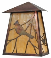 Meyda Tiffany 99797 Stillwater Song Bird Beige Vintage Copper Finish 9  Wide Outdoor Wall Lighting