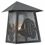 Meyda Tiffany 99981 Stillwater Angel Fish 9  Wide Outdoor Sconce Lighting