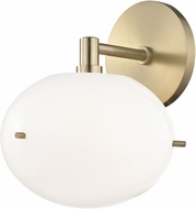 Mitzi H102101-AGB Winnie Modern Aged Brass LED Lamp Sconce