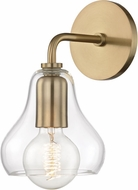 Mitzi H104101S-AGB Sadie Contemporary Aged Brass Wall Light Sconce