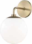 Mitzi H105101-AGB Stella Contemporary Aged Brass Wall Light Sconce