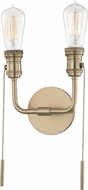 Mitzi H106102-AGB Lexi Contemporary Aged Brass Wall Sconce Lighting