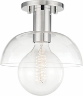 Mitzi H107601-PN Kyla Contemporary Polished Nickel Flush Mount Ceiling Light Fixture