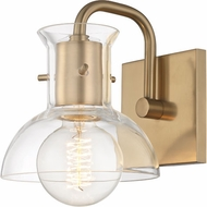 Mitzi H111301-AGB Riley Modern Aged Brass Wall Sconce