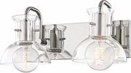 Mitzi H111302-PN Riley Contemporary Polished Nickel 2-Light Lighting For Bathroom