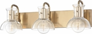 Mitzi H111303-AGB Riley Modern Aged Brass 3-Light Bath Lighting