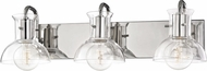 Mitzi H111303-PN Riley Contemporary Polished Nickel 3-Light Bathroom Light