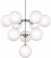 Mitzi H122810-PN Ashleigh Modern Polished Nickel LED Ceiling Chandelier