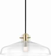 Mitzi H128701A-AGB Nemo Contemporary Aged Brass LED Drop Ceiling Light Fixture