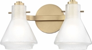 Mitzi H129302-AGB Rosie Contemporary Aged Brass Xenon 2-Light Bathroom Lighting Fixture