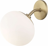 Mitzi H134101-AGB Estee Contemporary Aged Brass Wall Light Sconce