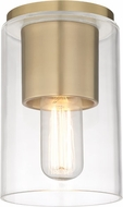 Mitzi H135501-AGB Lula Contemporary Aged Brass Flush Ceiling Light Fixture