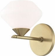 Mitzi H136301-AGB Valerie Modern Aged Brass Xenon Sconce Lighting