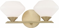 Mitzi H136302-AGB Valerie Modern Aged Brass Xenon 2-Light Bathroom Lighting