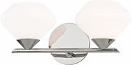 Mitzi H136302-PN Valerie Contemporary Polished Nickel Xenon 2-Light Lighting For Bathroom