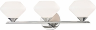 Mitzi H136303-PN Valerie Contemporary Polished Nickel Xenon 3-Light Bathroom Light
