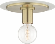 Mitzi H137501S-AGB-WH Milo Modern Aged Brass / White 9  Ceiling Light Fixture