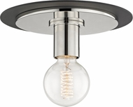Mitzi H137501S-PN-BK Milo Contemporary Polished Nickel / Black 9  Ceiling Lighting Fixture