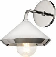 Mitzi H139101-PN-WH Marnie Modern Polished Nickel / White Lighting Sconce