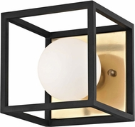Mitzi H141301-AGB-BK Aira Contemporary Aged Brass / Black LED Lamp Sconce