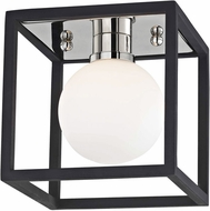 Mitzi H141301-PN-BK Aira Modern Polished Nickel / Black LED Wall Sconce Lighting