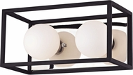 Mitzi H141302-PN-BK Aira Modern Polished Nickel / Black LED 2-Light Bathroom Light Fixture
