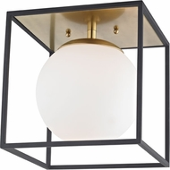 Mitzi H141501S-AGB-BK Aira Contemporary Aged Brass / Black 9.5  Overhead Lighting