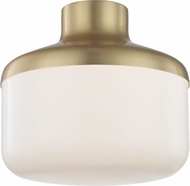 Mitzi H144501L-AGB Livvy Contemporary Aged Brass 12  Flush Mount Lighting Fixture