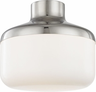 Mitzi H144501L-PN Livvy Contemporary Polished Nickel 12  Flush Mount Ceiling Light Fixture