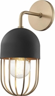 Mitzi H145101-AGB-BK Haley Contemporary Aged Brass / Black Wall Light Fixture