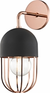 Mitzi H145101-POC-BK Haley Contemporary Polished Copper / Black Wall Lighting Sconce