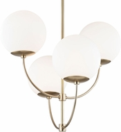 Mitzi H160804-AGB Carrie Modern Aged Brass Chandelier Lighting