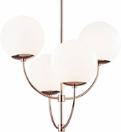Mitzi H160804-POC Carrie Modern Polished Copper Chandelier Lamp