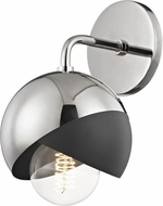 Mitzi H168101-PN-BK Emma Contemporary Polished Nickel / Black Wall Light Sconce