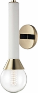 Mitzi H169101-PB-WH Via Contemporary Polished Brass / White Wall Lamp