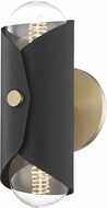 Mitzi H172102-AGB-BK Immo Modern Aged Brass / Black Lamp Sconce