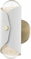 Mitzi H172102-AGB-WH Immo Contemporary Aged Brass / White Wall Sconce Lighting