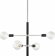 Mitzi H178804-PN-BK Astrid Contemporary Polished Nickel / Black Mini Lighting Chandelier