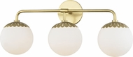 Mitzi H193303-AGB Paige Contemporary Aged Brass 3-Light Bath Light Fixture