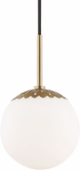 Mitzi H193701S-AGB Paige Modern Aged Brass 7.5  Mini Hanging Pendant Light