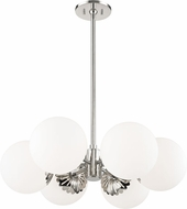 Mitzi H193806-PN Paige Contemporary Polished Nickel Lighting Chandelier