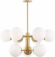 Mitzi H193809-AGB Paige Modern Aged Brass Chandelier Lamp