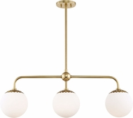 Mitzi H193903-AGB Paige Contemporary Aged Brass Island Lighting