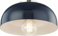 Mitzi H199501S-PN-NVY Avery Contemporary Polished Nickel / Navy 11 Home Ceiling Lighting