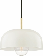 Mitzi H199701L-AGB-CR Avery Modern Aged Brass / Cream Ceiling Light Pendant