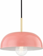 Mitzi H199701S-AGB-PK Avery Contemporary Aged Brass / Pink Mini Pendant Light