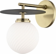 Mitzi H200101-AGB-BK Ellis Modern Aged Brass / Black LED Light Sconce