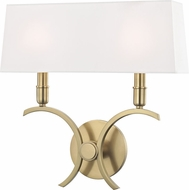 Mitzi H212102L-AGB Gwen Contemporary Aged Brass 14.5  Lighting Wall Sconce
